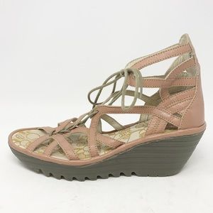 Fly London Yeli Gladiator Wedge Sandal | Size 40
